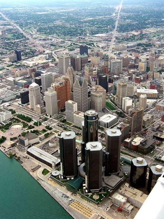 Photo:  Aerial View of Detroit, Michigan