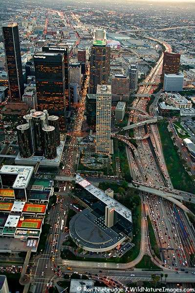 Photo:  Aerial view of Downtown Los Angeles