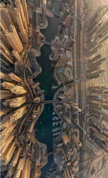Photo:  Aerial view of Dubai City