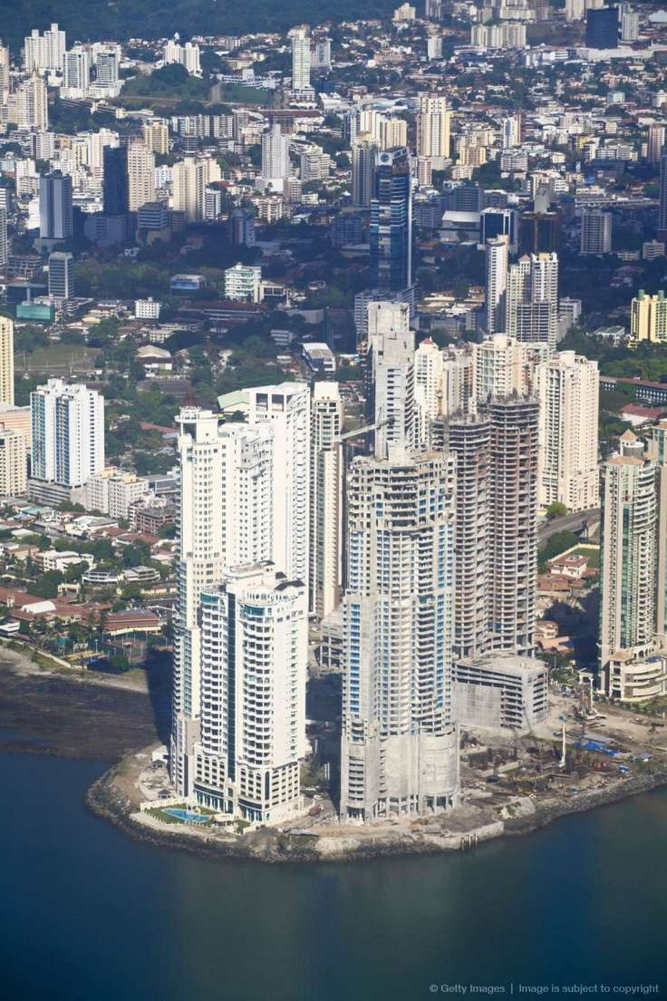 Photo:  Aerial view of city, Panama City, Panama.