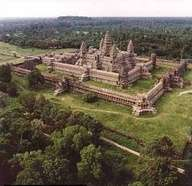 Photo:  aerial view of Angkor Wat