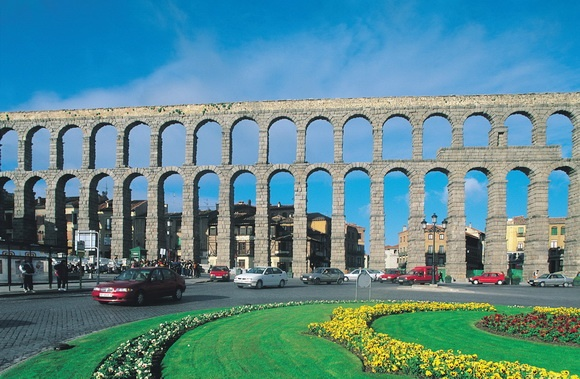 Photo:  Aqueduct of Segovia
