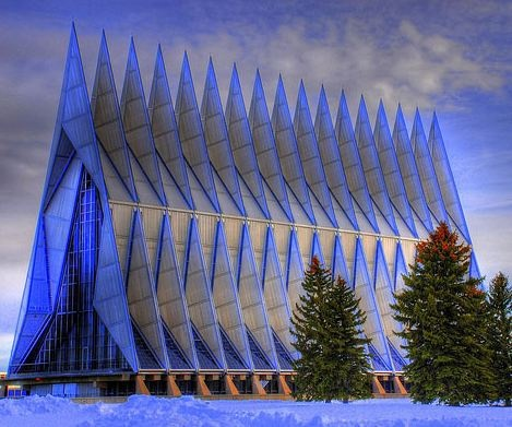 Photo:  Air Force Academy Chapel. Colorado Springs, Colorado