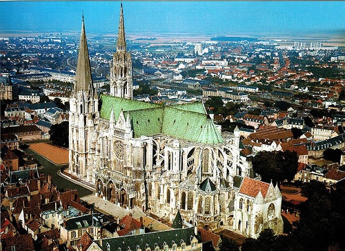 Photo:  Chartres Cathedral in Chartres, France 1200