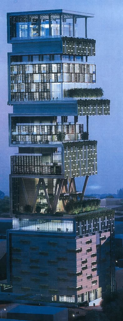 Photo:  The most expensive house in the world...One Billion Dollar House in Mumbai....27 floors