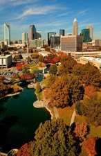 Photo:  An autumn scene in Charlotte, North Carolina