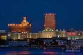 Photo:  Atlantic City skyline at night