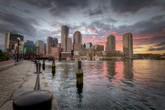 Photo:  Boston Skyline at sunset