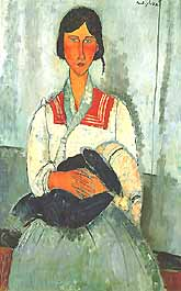 Photo:  Amedeo Modigliani, Gypsy Woman with Baby (Zingara con neonato), 1919