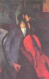 Photo:  Amedeo Modigliani, Le violoncelliste, 1909