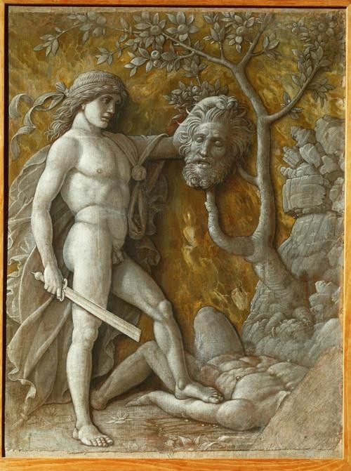 Photo:  Andrea Mantegna, David with the Head of Goliath, 1490