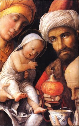 Photo:  Andrea Mantegna,The Adoration of the Magi
