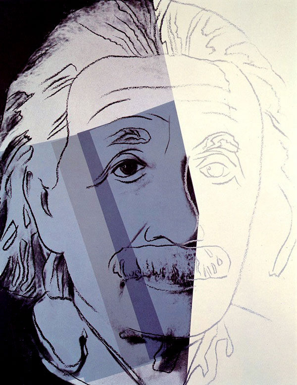 Photo:  Andy Warhol, Albert Einstein, 1980