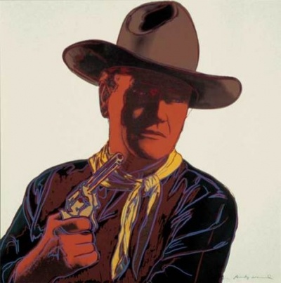 Photo:  Andy Warhol, John Wayne