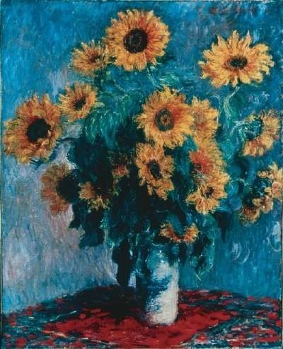 Photo:  Bouquet of Sunflowers by Claude Monet is an oil on canvas