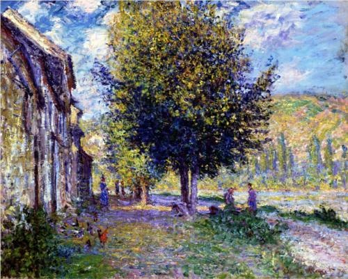 Photo:  Claude Monet, Banks of the Seine at Lavacourt