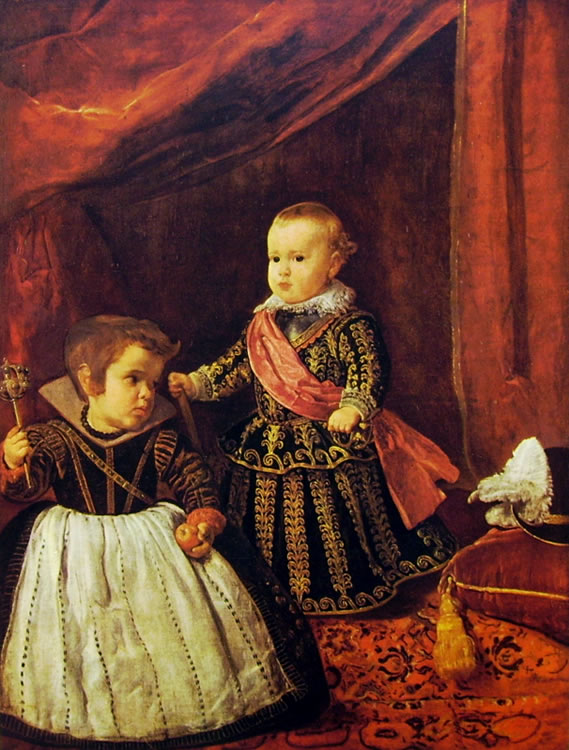 Photo:  Diego Velazquez, Il principe Baltasar Carlos con un nano, Boston Museum of Fine Arts