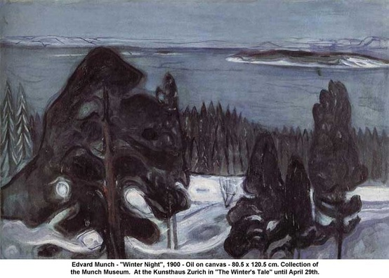 Photo:  Edvard Munch 'Winter Night'