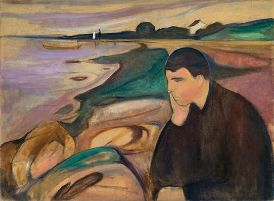 Photo:  Edvard Munch, 'Melancholy'