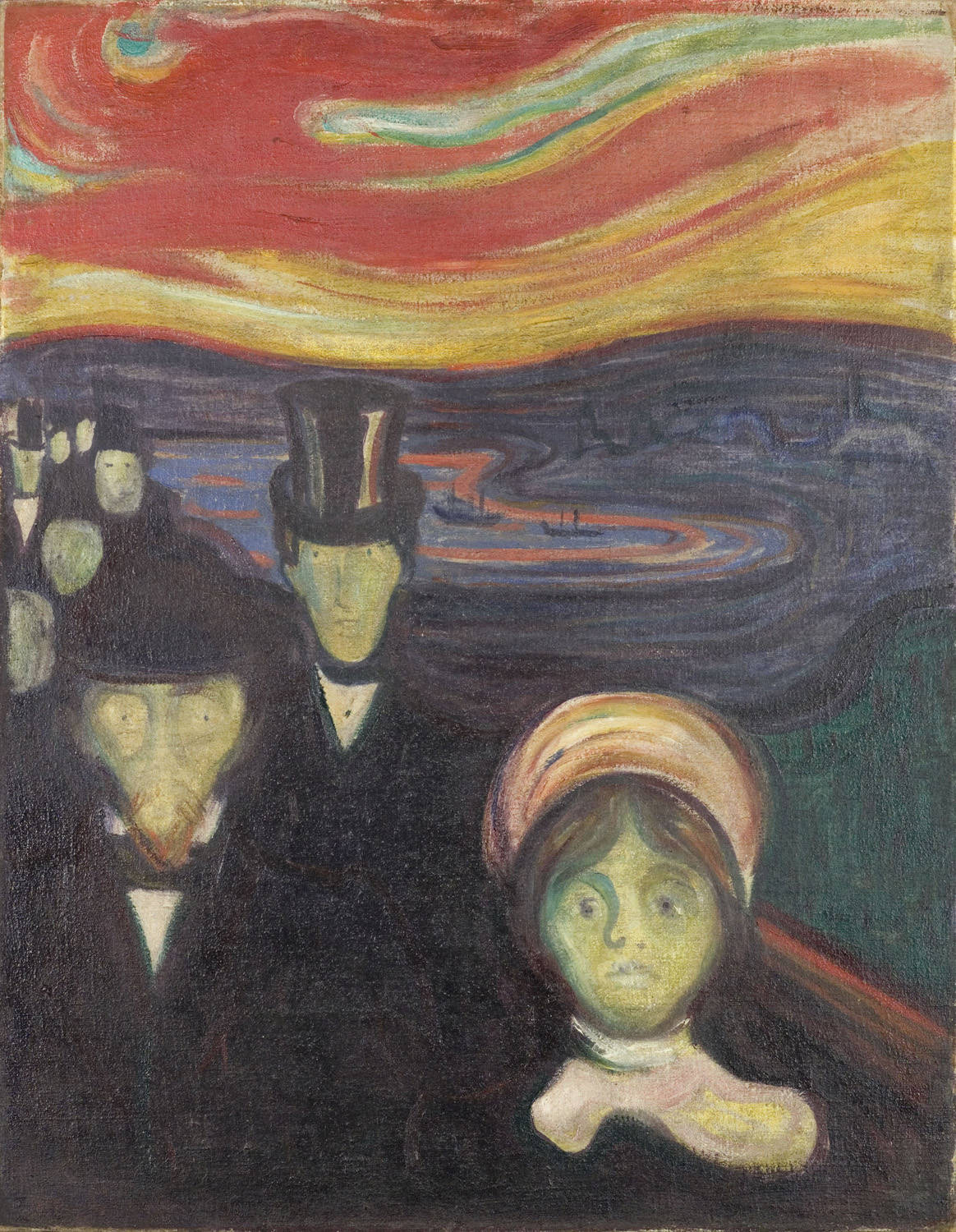 Photo:  Edvard Munch, Anxiety, 1894
