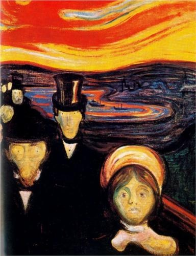 Photo:  Edvard Munch, Anxiety