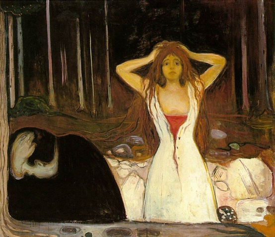 Photo:  Edvard Munch, Ashes