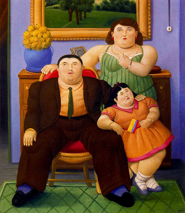 Photo:  Fernando Botero,Colombian Family, 1999