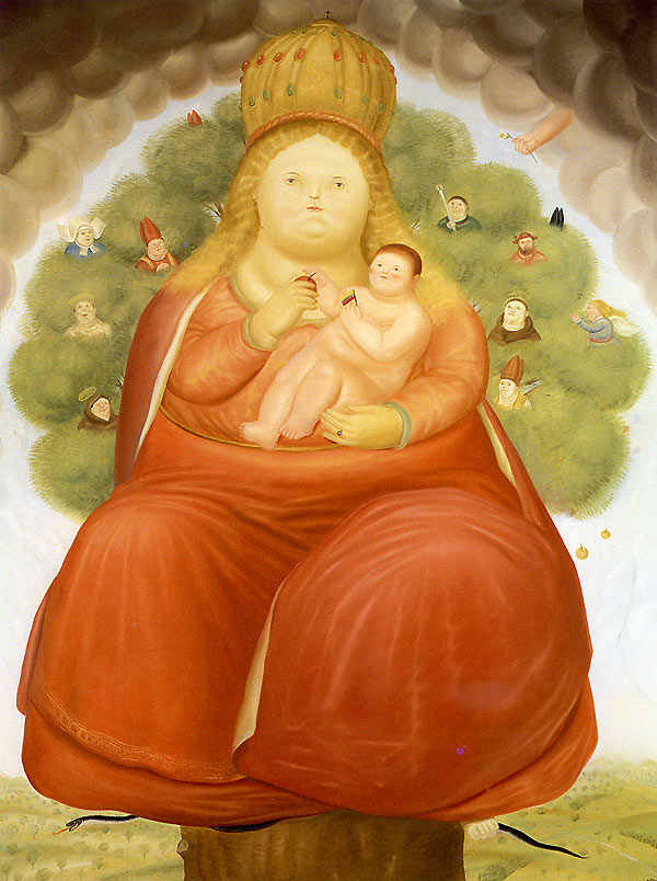 Photo:  Fernando Botero,Our Lady of Cajica, 1972