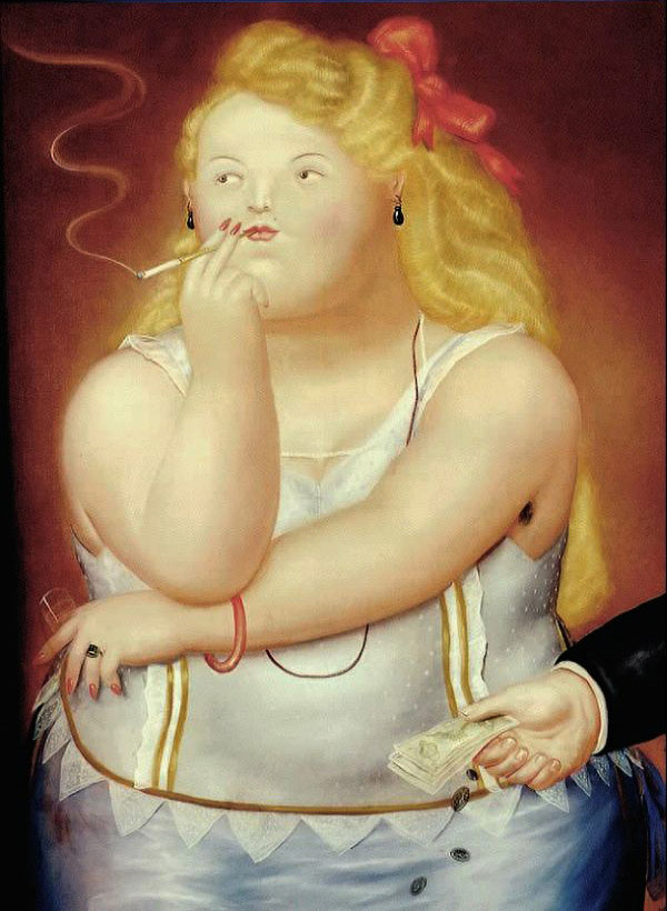 Photo:  Fernando Botero,Rosita, 1973