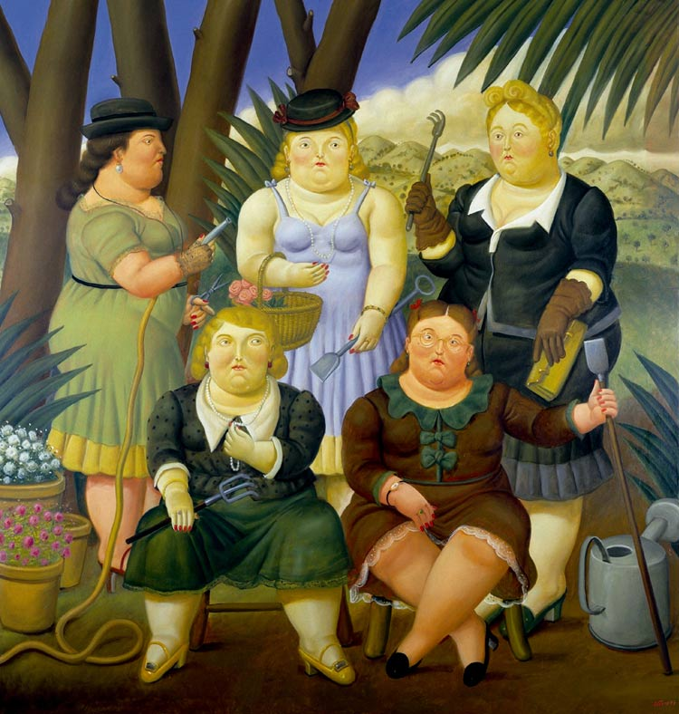 Photo:  Fernando Botero,The Gardening Club, 1997