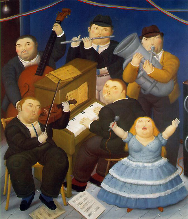 Photo:  Fernando Botero,The Musicians, 1991