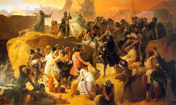 Photo:  Crusaders Thirsting Near Jerusalem