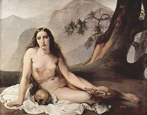 Photo:  Nude with Skull and Cross