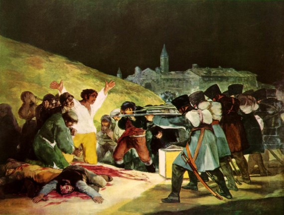 Photo:  Francisco Goya,The Third of May, 1808