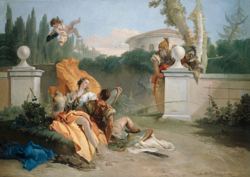 Photo:  Giovani Batista Tiepolo ~ Rinaldo and Armida in Her Garden