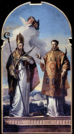 Photo:  Sts. Hermagoras and Fortunatus by Giovanni Battista Tiepolo (1736)
