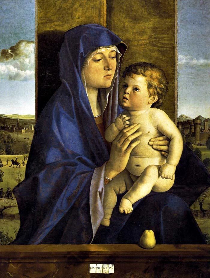 Photo:  Giovanni Bellini, Madonna and Child, ca. 1480