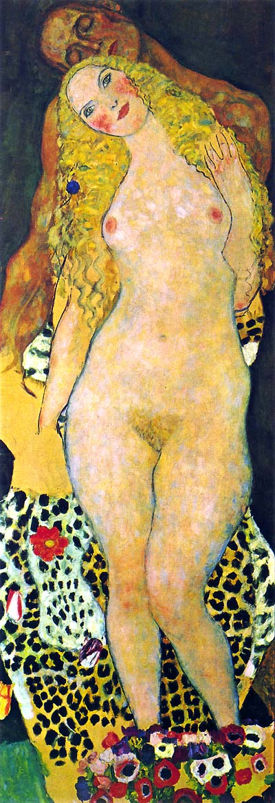 Photo:  Gustav Klimt, Adam and Eve (unfinished), 1917