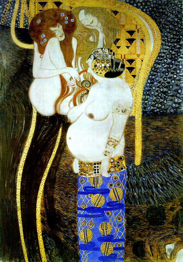 Photo:  Gustav Klimt, Beethoven Frieze
