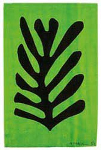 Photo:  Henri Matisse, Black Leaf on Green Background, 1952