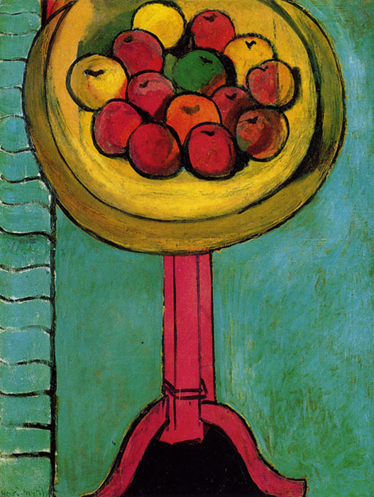 Photo:  Henri Matisse, Bowl of Apples on a Table, 1916