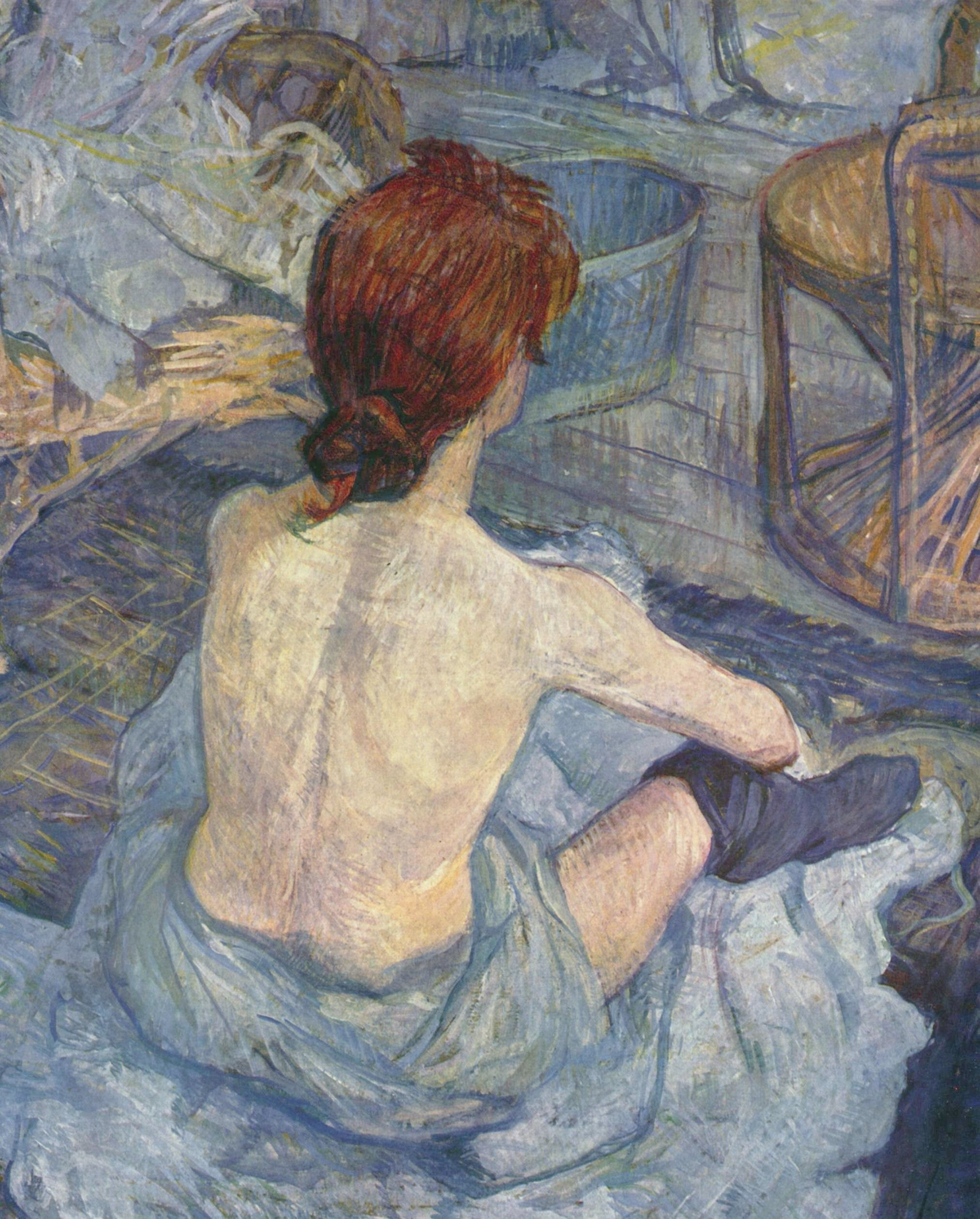 Photo:  La Toilette (1896), 67 × 54 cm, olio su cartone, Musée d'Orsay
