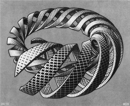 Photo:  'Spirals' by Escher