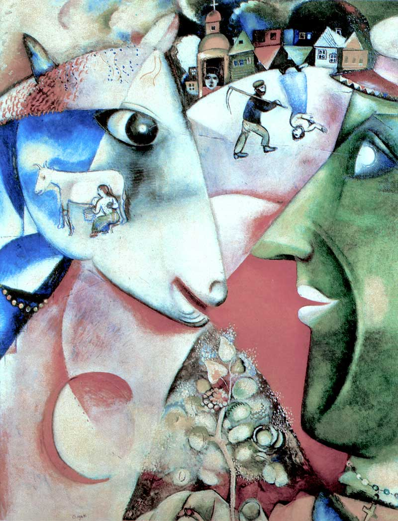 Photo:  Marc Chagall,I and the Village, 1911