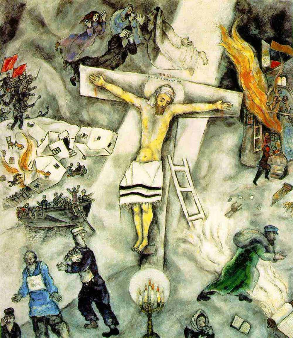 Photo:  Marc Chagall,La crocifissione in bianco (The White Crucifixion), 1938