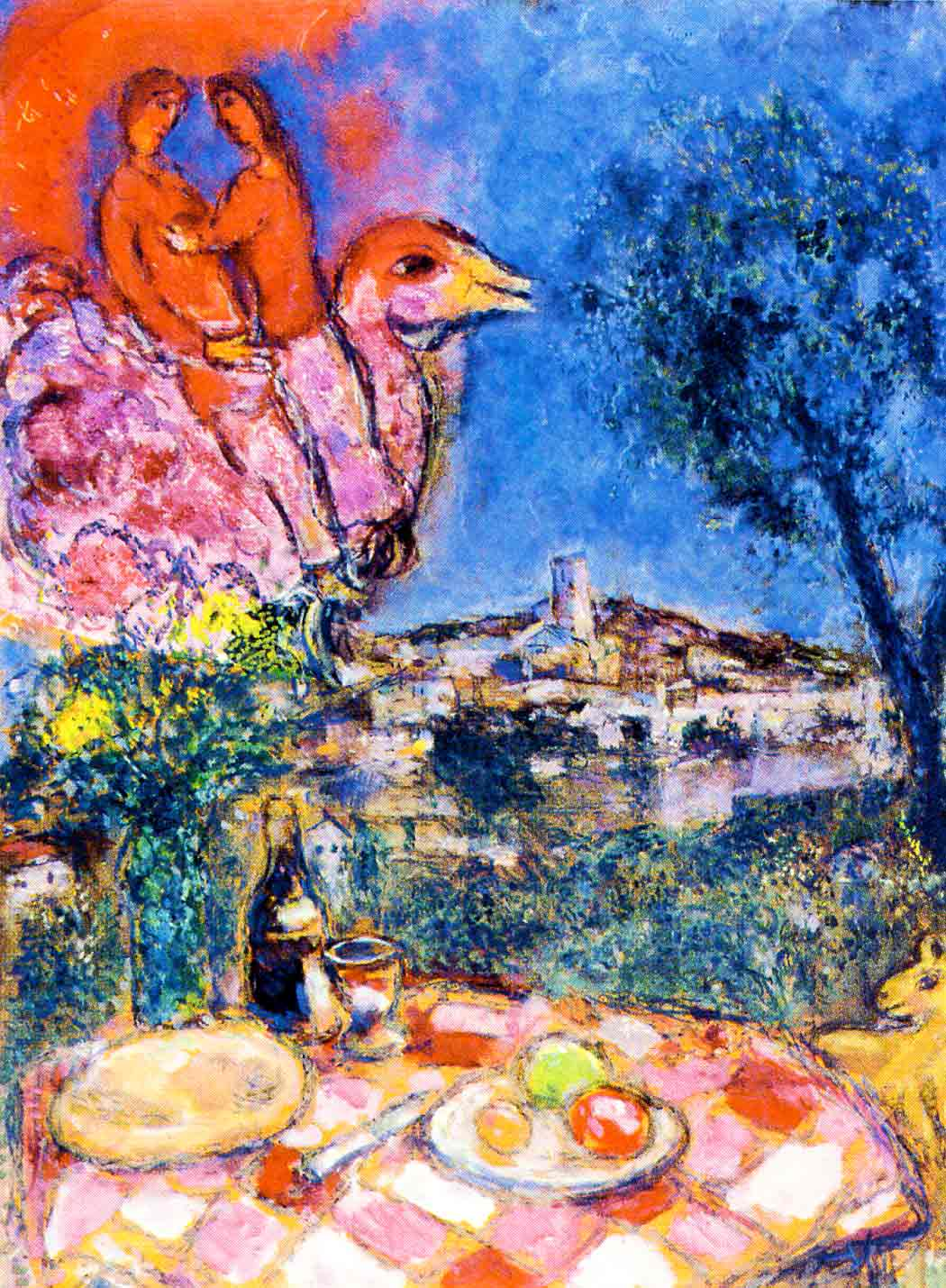 Photo:  Marc Chagall,Laid Table with View of Saint Paul de Vence, 1968