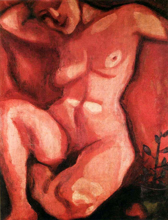 Photo:  Marc Chagall,Red Nude Sitting Up, 1908