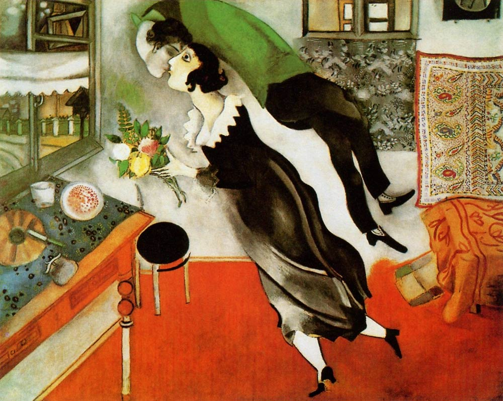Photo:  Marc Chagall,The Birthday, 1915