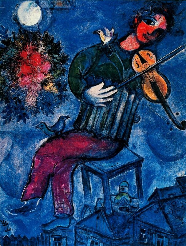 Photo:  Marc Chagall,The Blue Fiddler, 1947