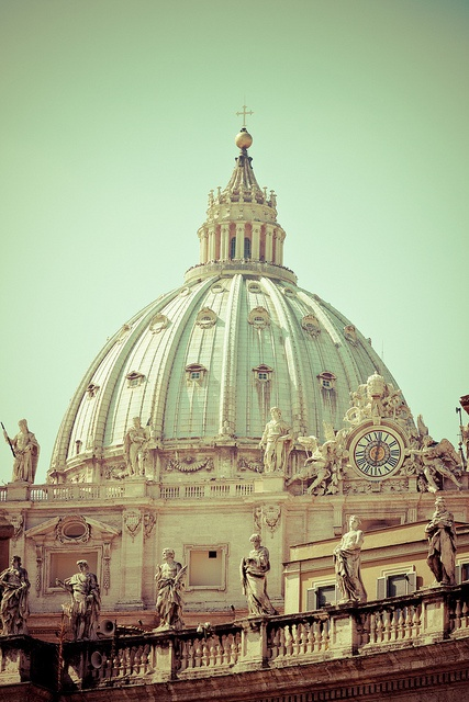 Photo:  Dome of St. Peter's Basilica Designed by Michelangelo